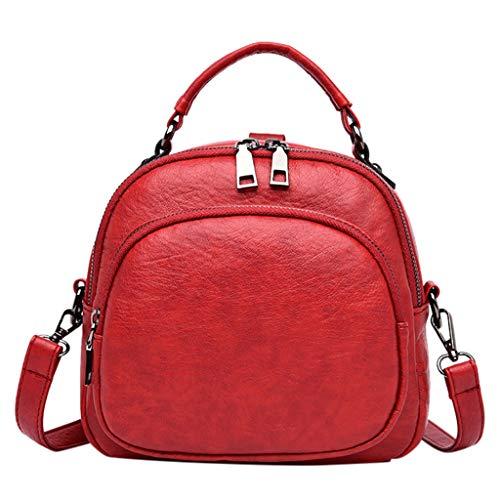 TIFIY Damen Rucksack Damenmode Umhängetasche Casual Umhängetasche High-End-Handtasche Arbeits Täglich Bankett Elegant Tasche(Rot)