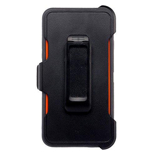 Coque Iphone 6S, fogeek Combo 4en 1pc + TPU résistant Holster avec béquille intégrée avec protège écran et 360degreen Clip ceinture pivotant pour iPhone 3S/6-, plastique, Gris/orange, iPhone 6s Pl Gris/orange