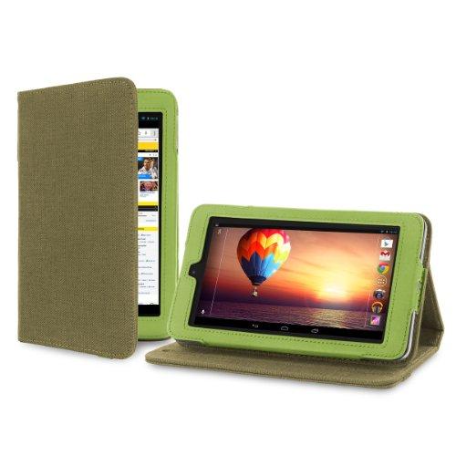 Cover-Up Schutzhülle für HP Slate 7 Tablet 17,8cm/ 7Zoll (natürliches Hanf, Standfunktion), Khaki-Grün