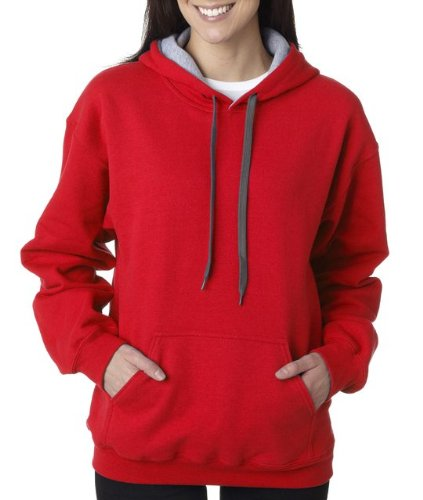 Heavy Blend Contrast Hooded Sweatshirt - Farbe: Red/Sport Grey - Größe: XXL -