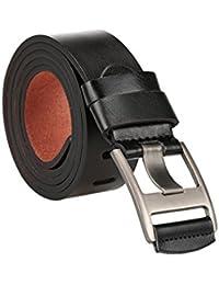 sourcingmap Men Classical PU Dress Belt Metal Pin Buckle Adjustable With Loop Width 38mm
