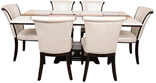 Carigari CRG-T101-53 Six Seater Dining Set (White)