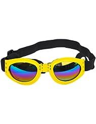 QHGstore Gafas protectoras para gafas de sol UV para gafas de sol plegables con correa ajustable amarillo