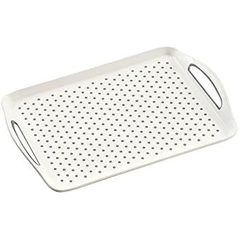 Kesper Tablett Serviertablett Geschirrtablett Kunststoff rutschfest grün