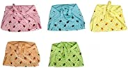 Greenbub - Double Layer Organic Cotton Nappies L Size (6-12 Months) Set of 5 - Strawberry Printed