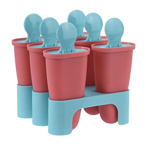 6x Eis am Stiel Form Lutscher Kinder Deckel Eisform Wassereis Eiscreme Stieleisform Popsicle Formen Set, 6 oder 12 Stück Eislutscher Eisamstiel Eis Ice Pop Macher Bpa Frei Schadstofffrei (6)