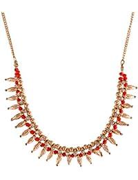 collar de tipo spiky estilo Boho Chic largo con cadena eslabones ajustable a la talla