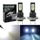 KaTur 2400 lumens extrêmement Lumineux dernières Ampoules de Brouillard 3570 Chipets H7 LED Uniquement pour la lumière diurne DRL ou Feux de Brouillard, Blanc xénon (Blanc H7)