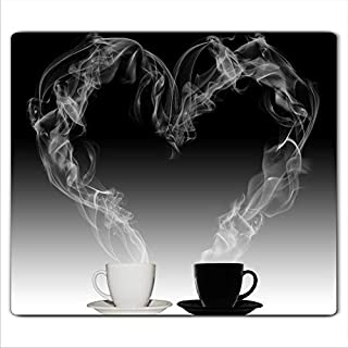 FTB Gsmarkt   Herdabdeckplatte Schneidebrett Spritzschutz 60x52   Bild auf Glas   Sicherheitsglas Gehärtetes Glas Bild   Motiv Kaffee