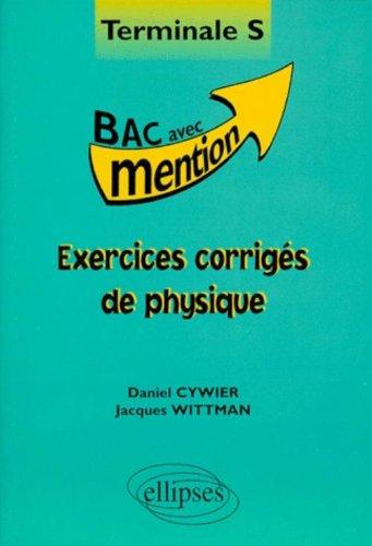 Exercices corrigés de Physique