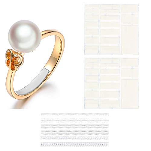 Eiito Ring Size Adjuster (bianco 63-pezzi) riduttore per anello adjuster anelli (Set di 7 taglie)
