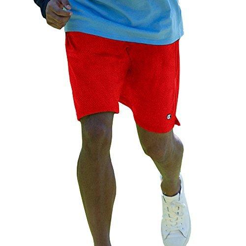 Champion Men's Long Mesh Pockets Shorts, Crimson, XL