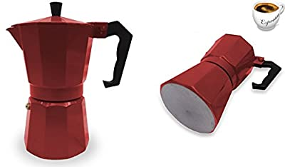 Italian Espresso Stove Top Coffee Maker Pot 1 Cup red
