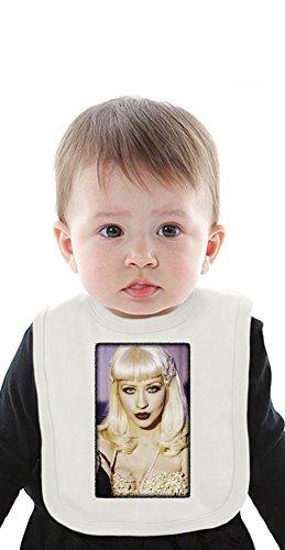 Christina Aguilera Organic Baby Bib With Ties Medium Dvr Cd