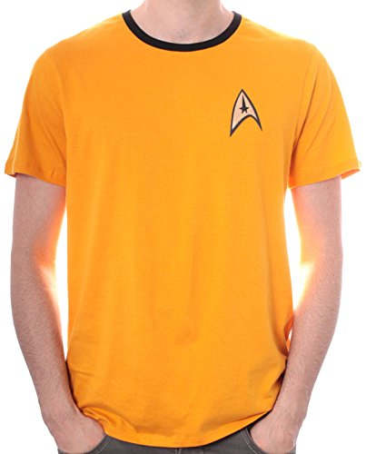 Star Trek Uniforme - Camiseta para hombre, color amarillo, talla Medium (Talla del fabricante: M)