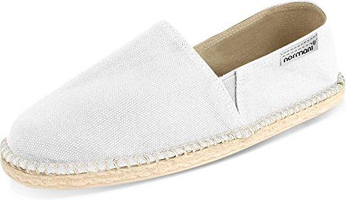 normani Sommerschuhe für Damen | Espadrille mit praktischem Baumwollbeutel Farbe White Größe 42 EU