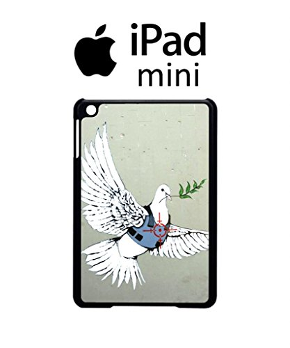 Banksy Peace War Bird Peagon Target Cool Funny Hipster Swag iPad Case Back Cover Hülle Weiß Schwarz Mini 1 Tablet White