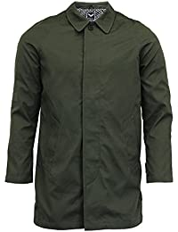 Mens Jacket Brave Soul Mac Trench Coat Collared Cotton Button Lined Winter New