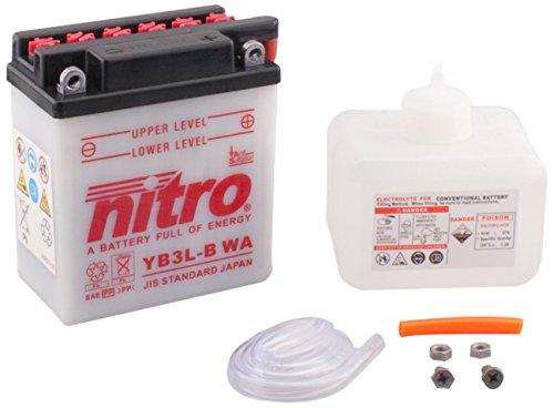 Nitro YB3L-B WA N - Batteria per moto, con confezione di acido.