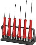 PB Swiss Tools SCHLITZ Schraubendreher-Set Elektriker PB 8640, 6-tlg. (1,2/1,5/1,8/2/2,5/3 mm), Halterung, 100% Swiss Made, Unbegrenzte Garantie