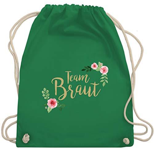bschied - Team Braut Blumen - Unisize - Grün - WM110 - Turnbeutel & Gym Bag ()