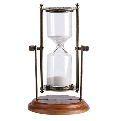 Clessidra metallo verde vetro vintage 15 minuti decorazione clessidra orario classico sabbia timer utensili