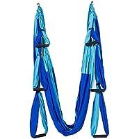 WEIXY Aerial Yoga Swing - Hamaca antigareza estupenda para yoga, tela de seda aérea Yoga Swing Yoga antigravedad (Azul)