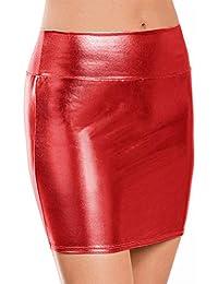 metálico Bodycon lápiz Faldas Faldas Cortas Sexy ,Nightclub Falda de Lápiz Corta Sexy Metálico Brillo