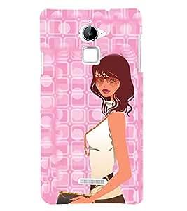 Shopping Girl 3D Hard Polycarbonate Designer Back Case Cover for Coolpad Note 3 Lite