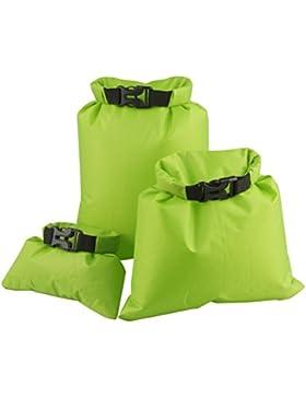 UEETEK 3pcs 1,5 L + 2,5 L + 3,5 L wasserdichter Packsack Beutel Aufbewahrungsbeutel für Camping Bootfahren Kajak...