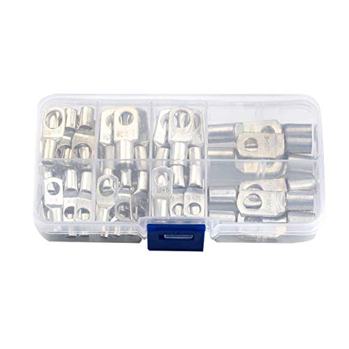 ZREAL 60PCS SC Series Bare Terminals Tinned Copper Lug Ring Seal Wire Connectors Sortiert Kit (Terminals Connectors Ring)