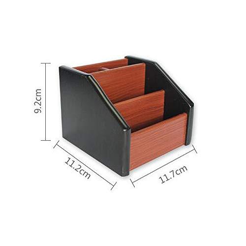 WLYBEZ Holz Desktop Organizer Aufbewahrungsbox Stift Bleistift Box Schmuck Make-up Halter Schreibwaren Büro Lagerregal (Desktop-bleistift-organizer)