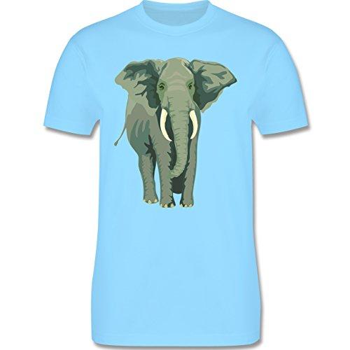 Wildnis - Elefant - Herren Premium T-Shirt Hellblau