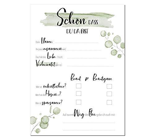 Alternatives Gästebuch, Hochzeitsspiel - 2