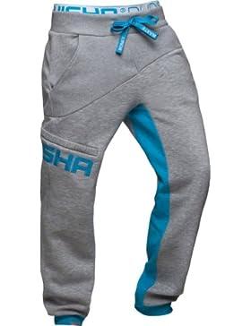 Shisha Boys Pant Sundag Ash/Encyan- Grau Jogginghose