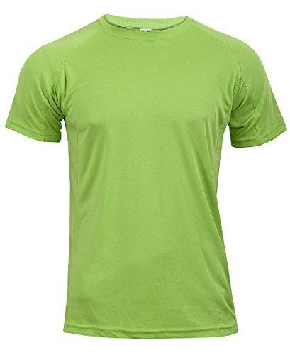 nuovo-da-uomo-traspirante-t-shirt-traspirante-cool-dry-running-palestra-top-sport-performance-green-