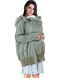 Sweet Mommy Maternity and Nursing Parka Coat With Baby Panel and Inner Vest