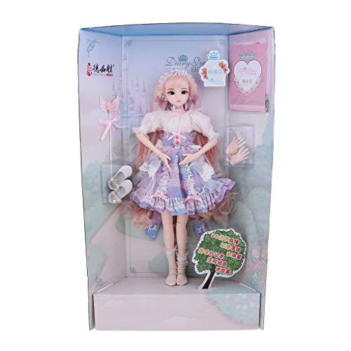 (Fenteer DIY Mädchen Puppe Funktionspuppe Jointed Puppe Ankleidepuppe Gelenkpuppe, Geschenk für Weihnachten Geburtstag und Hochzeit - I)