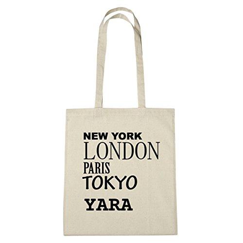 JOllify Yara di cotone felpato B6028 schwarz: New York, London, Paris, Tokyo natur: New York, London, Paris, Tokyo