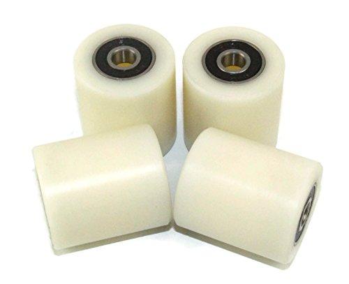 Nylon-Rollen, 4Stück, 35mm Durchmesser, maschinenbearbeitet, verschiedene Breiten, hergestellt in der EU, 40 mm Wide, 4