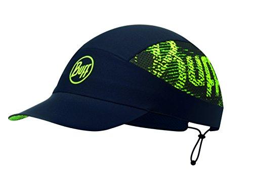 Buff Pack Run Cap Laufmütze + Ultrapower Schlauchtuch | mit Visier | Faltbar | UV-Schutz | Laufen | Joggen | Sportmütze | Laufkappe R-Flash Logo Black - 113706.999.10.00