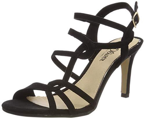 s.Oliver 5-5-28303-22 007, Sandali con Cinturino alla Caviglia Donna, Nero (Black Uni 7), 39 EU
