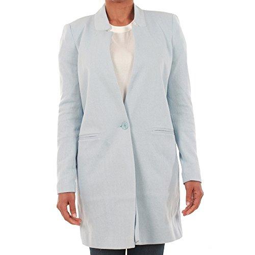 Vero Moda Cappotto Donna M Azzurro 10199223 VMJUNE W/L LONG BLAZER DNM NOOS CASHMERE BLUE