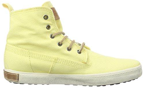 Blackstone Canvas, Baskets Hautes Femme jaune (Soft Yellow)