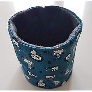 Hundeloop Loop Schal Hund Hundeschal Löwe blau 32/35 Handarbeit Handmade