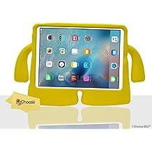iCHOOSE Nuevo Prima Goma de Protección Caso / La cobertura de la Apple iPad 2 / 3 / 4 Retina / Adecuado para Niños, Escuela, Guardería / Diseño de la Diversión con Empuñaduras del Brazo / Amarillo