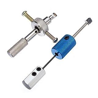 DANIU 2 Stücke Disc Detainer Bauschlosserwerkzeuge Lock-Picks Set Vorhängeschloss Werkzeug