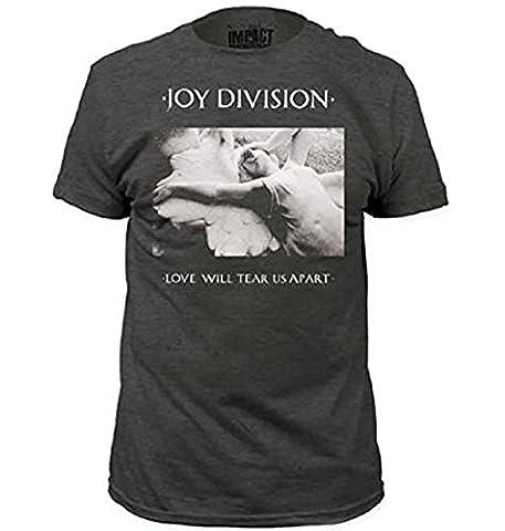 Joy Division Love Will Tear Us Apart Erwachsene Heather grau T-Shirt (X-Large)