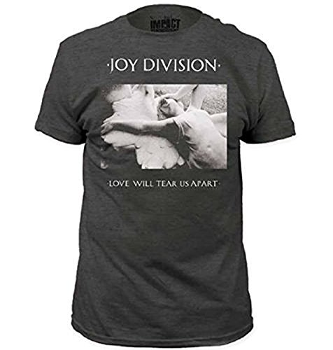 Joy Division Love Will Tear Us Apart Erwachsene Heather grau T-Shirt (Small) -