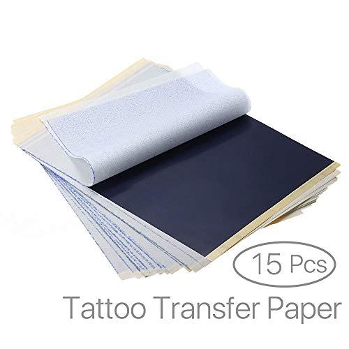 EZI 15 Blatt Profi A4 Carbon Tattoo Matritzenpapier Pauspapier Transferpapier Schablone Selberdrucken # DE7603830